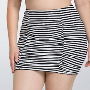 Torrid 2 swim bottoms black white stripe